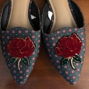 Rose mules from target